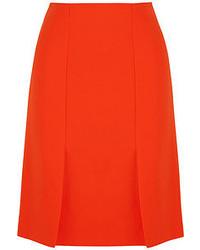 Falda línea a naranja de Fendi
