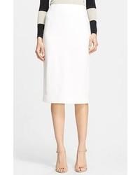 Falda midi blanca de Burberry