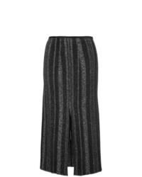 Falda midi con adornos negra de Proenza Schouler