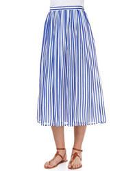 ee22f0403 Comprar una falda midi de rayas verticales en azul marino y blanco ...