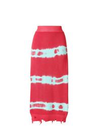Falda midi estampada rosa de MSGM