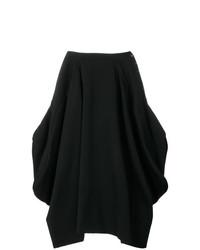 Falda midi negra de Comme Des Garçons Vintage