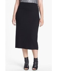 Falda midi negra de Eileen Fisher
