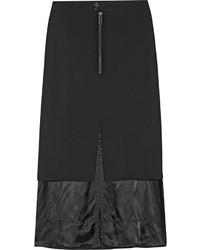 Falda midi negra de Maison Margiela