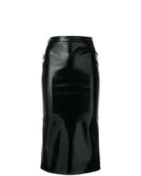 Falda midi negra de McQ Alexander McQueen