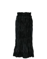 Falda midi negra de Sacai
