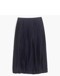 Falda midi plisada azul marino de J.Crew