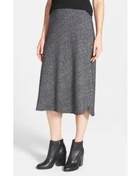 Falda midi plisada en gris oscuro de Eileen Fisher