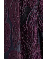 Falda midi plisada morado de Burberry