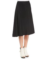 Falda midi plisada negra de 3.1 Phillip Lim