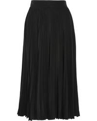 Falda midi plisada negra de Gucci