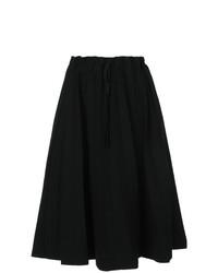 Falda midi plisada negra de Label Under Construction