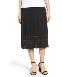 Falda Midi Plisada Negra de Ming Wang
