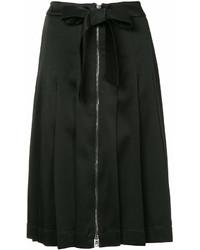 Falda midi plisada negra de Moschino