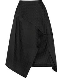 Falda midi plisada negra de Stella McCartney
