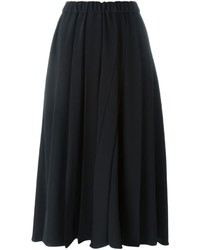 Falda midi plisada negra de Victoria Beckham
