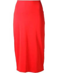 Falda midi roja de Alexander Wang