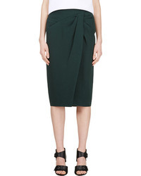 Falda midi verde oscuro de Burberry