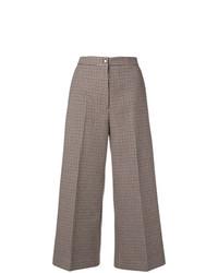 Falda pantalón a cuadros burdeos de MSGM