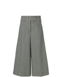 Falda pantalón a cuadros gris