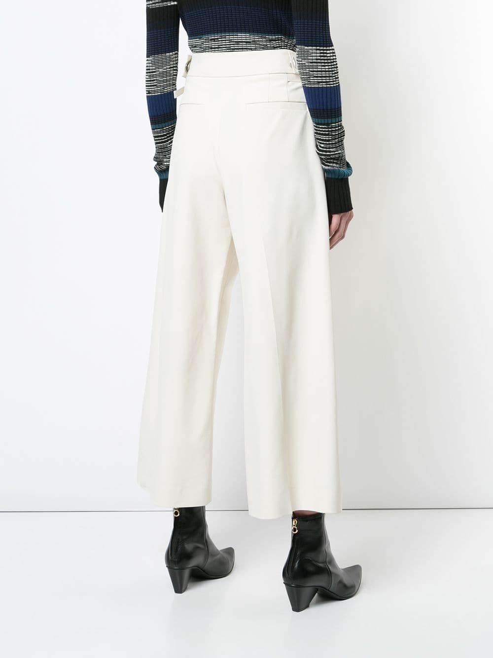 0edd2731b Falda pantalón blanca de Proenza Schouler