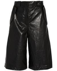 Falda pantalón de cuero negra de Acne Studios