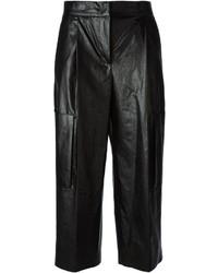 Falda pantalón de cuero negra de MSGM