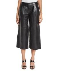 bb0f818f7 Comprar una falda pantalón de cuero plisada negra: elegir faldas ...