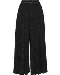 Falda pantalón de encaje negra de Givenchy