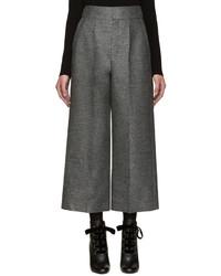 Falda pantalón de lana en gris oscuro de Lanvin