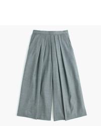 Falda pantalón de lana gris de J.Crew