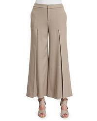 Falda pantalón de lana marrón claro de Ralph Lauren