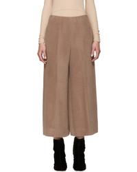 Falda pantalón de lana marrón de Maison Margiela