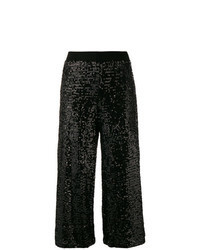 Falda pantalón de lentejuelas negra
