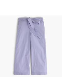 Falda pantalón de rayas horizontales celeste de J.Crew