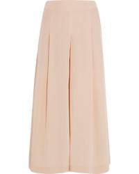 e9f0a146ba Comprar una falda pantalón de seda en beige  elegir faldas pantalón ...