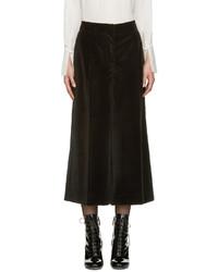 Falda pantalón de terciopelo negra de Marc Jacobs