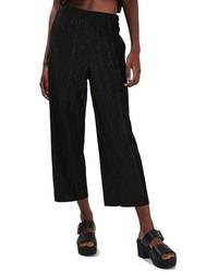 Falda Pantalón de Terciopelo Negra de Topshop