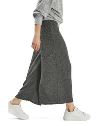 Falda pantalón en gris oscuro de Topshop