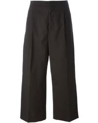 Falda pantalón en marrón oscuro
