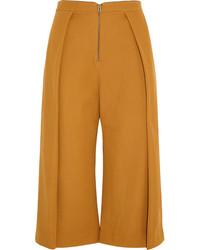 Falda pantalón en tabaco de Topshop