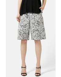 Falda pantalón estampada gris de Topshop