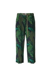 Falda pantalón estampada verde oscuro de Moncler