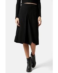 Falda pantalón negra de Topshop
