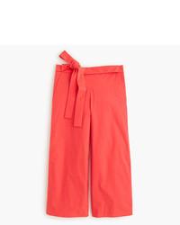 Falda pantalón roja de J.Crew