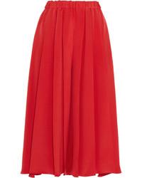 Falda pantalón roja de Victoria Beckham