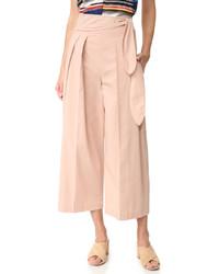 Falda pantalón rosada de Edun