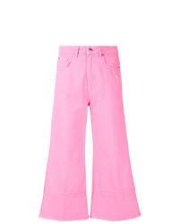 Falda pantalón rosada de MSGM