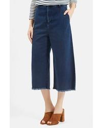 Falda pantalón vaquera azul marino de Topshop