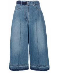 Falda pantalón vaquera azul